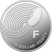 1 Dollar - Elizabeth II (4th Portrait - The Great Aussie Coin Hunt - Letter F - Silver Proof) – reverse
