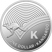 1 Dollar - Elizabeth II (4th Portrait - The Great Aussie Coin Hunt - Letter K - Silver Proof) -  reverse