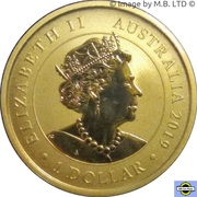 1 Dollar - Elizabeth II (6th Portrait - Happy Birthday) -  obverse