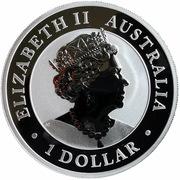 1 Dollar - Elisabeth II (6th Portrait - Australian Emu - Silver Bullion Coin) -  obverse