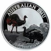 1 Dollar - Elisabeth II (6th Portrait - Australian Emu - Silver Bullion Coin) -  reverse