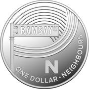 1 Dollar - Elizabeth II (4th Portrait - The Great Aussie Coin Hunt - Letter N - Silver Proof) -  reverse
