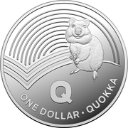 1 Dollar - Elizabeth II (4th Portrait - The Great Aussie Coin Hunt - Letter Q - Silver Proof) -  reverse