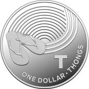 1 Dollar - Elizabeth II (4th Portrait - The Great Aussie Coin Hunt - Letter T - Silver Proof) -  reverse