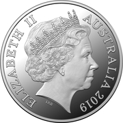 1 Dollar - Elizabeth II (4th Portrait - The Great Aussie Coin Hunt - Letter V - Silver Proof) -  obverse