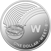 1 Dollar - Elizabeth II (4th Portrait - The Great Aussie Coin Hunt - Letter W - Silver Proof) -  reverse