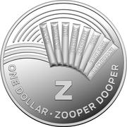 1 Dollar - Elizabeth II (4th Portrait - The Great Aussie Coin Hunt - Letter Z - Silver Proof) -  reverse