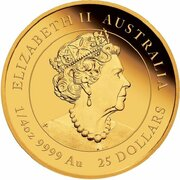 25 Dollars - Elizabeth II (6th Portrait - Year of the Mouse - Gold Bullion Coin) -  obverse