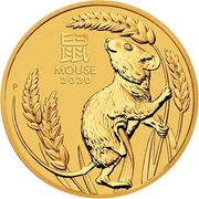 25 Dollars - Elizabeth II (6th Portrait - Year of the Mouse - Gold Bullion Coin) -  reverse