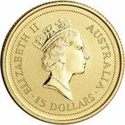 15 Dollars - Elizabeth II (3rd Portrait - Year of the Tiger - Gold Bullion Coin) -  obverse