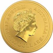 100 Dollars - Elizabeth II (4th Portrait - Kangaroo - Gold Bullion Coinage) -  obverse