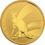 100 Dollars - Elizabeth II (4th Portrait - Kangaroo - Gold Bullion Coinage) -  reverse