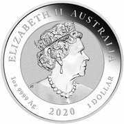 1 Dollar - Elizabeth II (6th Portrait - Quokka - Silver Bullion Coin) -  obverse
