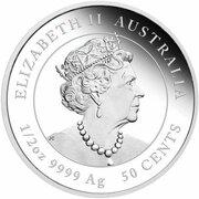 50 Cents - Elizabeth II (6th Portrait - Year of the Ox - Silver Bullion Coin) -  obverse