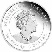 1 Dollar - Elizabeth II (6th Portrait - Year of the Ox - Silver Bullion Coin) – obverse