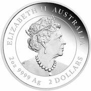 2 Dollars - Elizabeth II (6th Portrait - Year of the Ox - Silver Bullion Coin) – obverse