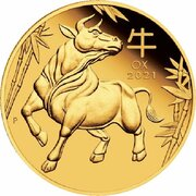 15 Dollars - Elizabeth II (6th Portrait - Year of the Ox - Gold Bullion Coin) -  reverse