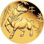 25 Dollars - Elizabeth II (6th Portrait - Year of the Ox - Gold Bullion Coin) -  reverse