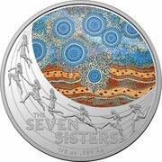 1 Dollar - Elizabeth II (6th Portrait - Star Dreaming - The Seven Sisters) -  reverse