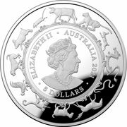 5 Dollars - Elizabeth II (6th Portrait - Year of the Ox - Silver Proof) – obverse