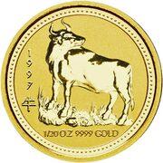 5 Dollars - Elizabeth II (3rd Portrait - Year of the Ox - Gold Bullion Coin) -  reverse