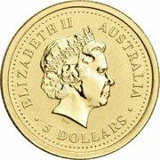 5 Dollars - Elizabeth II (4th Portrait - Year of the Snake - Gold Bullion Coin) -  obverse