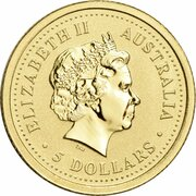 5 Dollars - Elizabeth II (4th Portrait - Year of the Dog - Gold Bullion Coin) -  obverse