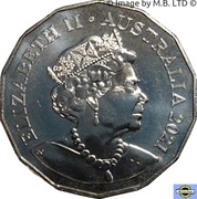 50 Cents - Elizabeth II (6th Portrait - Year of the Ox) – obverse