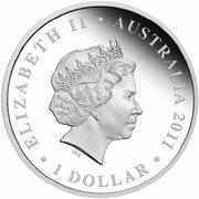 1 Dollar - Elizabeth II (4th Portrait - Royal Wedding - Silver Proof) -  obverse