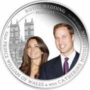 1 Dollar - Elizabeth II (4th Portrait - Royal Wedding - Silver Proof) -  reverse