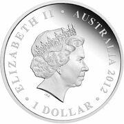 1 Dollar - Elizabeth II (4th Portrait - Diamond Jubilee QE II - Silver Proof) -  obverse