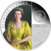 1 Dollar - Elizabeth II (4th Portrait - Diamond Jubilee QE II - Silver Proof) -  reverse