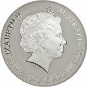 30 Dollars - Elizabeth II (4th Portrait - Commonwealth Games Melbourne - Silver Proof) -  obverse