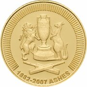 10 Dollars - Elizabeth II (4th Portrait - The Ashes 1882-2007- Gold Proof) -  reverse