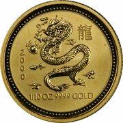 15 Dollars - Elizabeth II (4th Portrait - Year of the Dragon - Gold Bullion Coin) -  reverse
