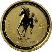 15 Dollars - Elizabeth II (4th Portrait - Year of the Horse - Gold Bullion Coin) -  reverse