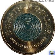 1 Dollar - Elizabeth II (6th portrait - Donation Dollar) -  reverse