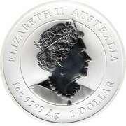 1 Dollar - Elizabeth II (6th Portrait - Year of the Mouse - Silver Bullion Coin) -  obverse