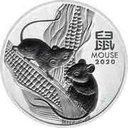 1 Dollar - Elizabeth II (6th Portrait - Year of the Mouse - Silver Bullion Coin) -  reverse