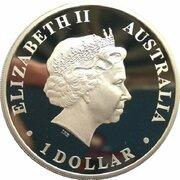 1 Dollar - Elizabeth II (4th Portrait - Discover Australia - Hobart) -  obverse