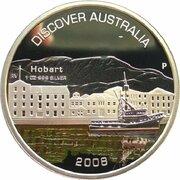 1 Dollar - Elizabeth II (4th Portrait - Discover Australia - Hobart) -  reverse