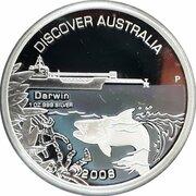 1 Dollar - Elizabeth II (4th Portrait - Discover Australia - Darwin) – reverse