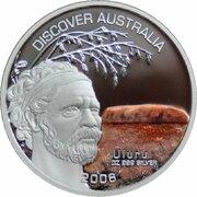 1 Dollar - Elizabeth II (4th Portrait - Discover Australia - Uluru) -  reverse