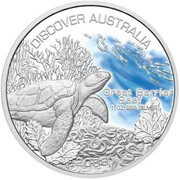 1 Dollar - Elizabeth II (4th Portrait - Discover Australia - Great Barrier Reef) -  reverse