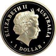 1 Dollar - Elizabeth II (4th Portrait - Discover Australia - Gold Coast) -  obverse
