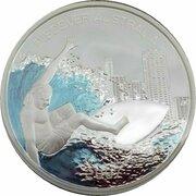 1 Dollar - Elizabeth II (4th Portrait - Discover Australia - Gold Coast) -  reverse