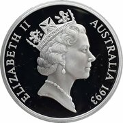 5 Dollars - Elizabeth II (3rd Portrait - James Cook - Masterpieces in Silver) -  obverse