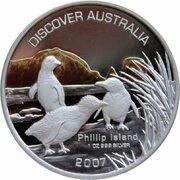 1 Dollar - Elizabeth II (4th Portrait - Discover Australia - Phillip Island) -  reverse