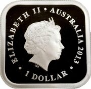 1 Dollar - Elizabeth II (4th Portrait - Australian Seasons - Summer) – obverse