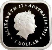 1 Dollar - Elizabeth II (4th Portrait - Australian Seasons - Winter) -  obverse